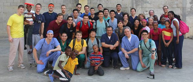 Photo of dentists and staff from Sirona Dental on the University of Detroit Mercy mission trip